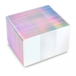 Bild på Blank white cards with holographic silver edge - CR80